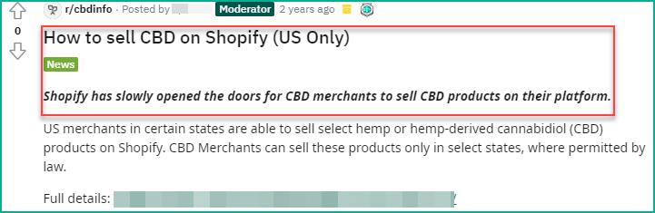 Shopify CBD