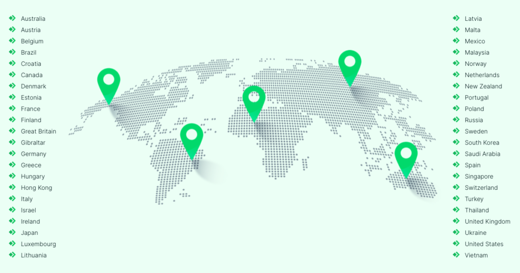 ePacket shipping - countries