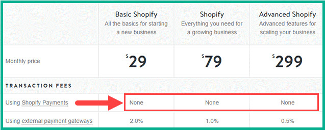 shopify payments fees - how much is shopify